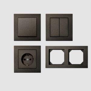 """Liregus """"EPSILON"""" įleistinio montažo, juodos spalvos"""