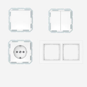 Vilma QUADRUM QR 1000 įleistinio montažo, baltos spalvos